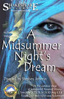 Shakespeare Kelowna poster for A Midsummer Night's Dream