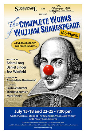The Complete Works of William Shakespeare (Abridged) 2015 production by Shakespeare Kelowna poster